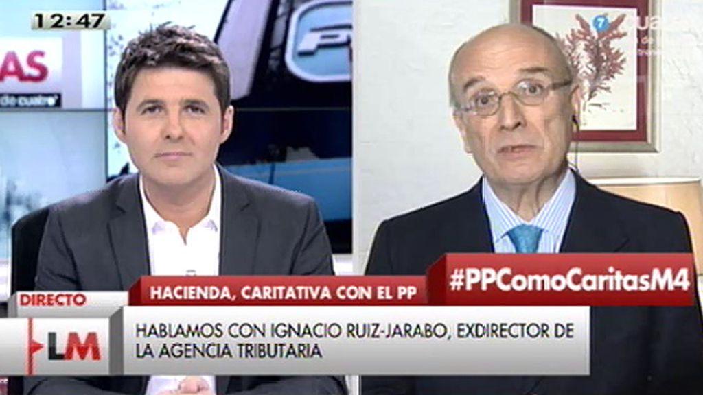 """I. Ruiz - Jarabo: """"Nada tiene que ver Cáritas con el PP, tampoco tributariamente"""""""