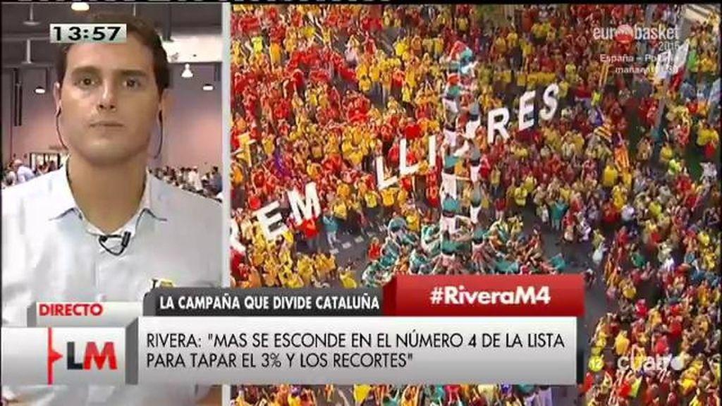 """Albert Rivera, sobre las elecciones en Cataluña: """"Hay que presentar un programa autonómico y no una secesión"""""""