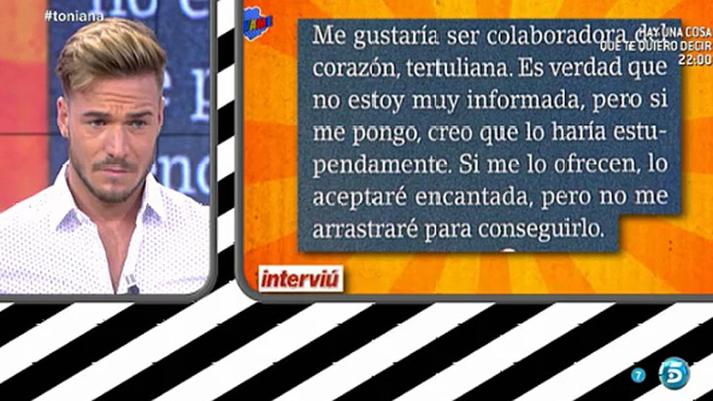 """Oriana, en 'Interviú': """"Me gustaría ser colaboradora de corazón"""""""