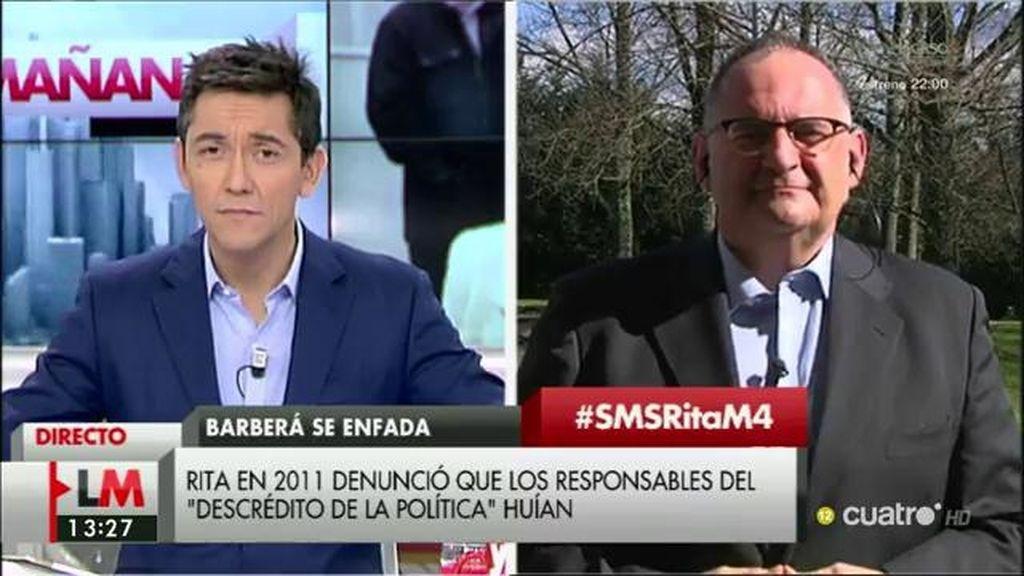 """Antón Losada: """"Rita Barberá es una bomba de relojería andante"""""""