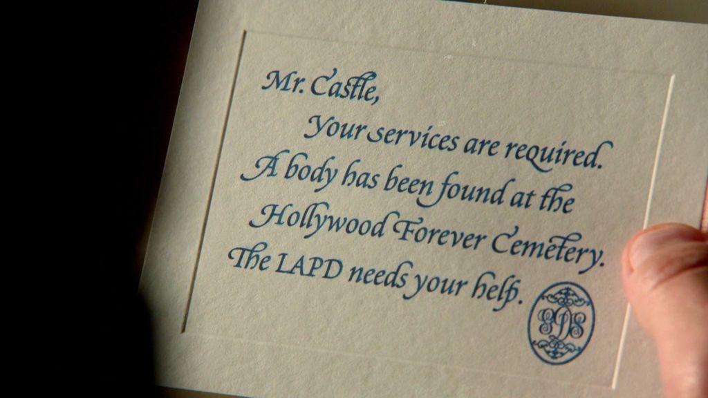 Castle está en una nube, la Sociedad de Grandes Detectives le pide ayuda