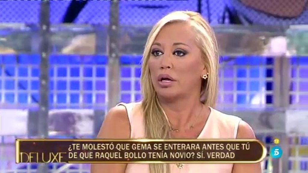 Belén, molesta con Raquel Bollo por no contarle que tenía un nuevo novio