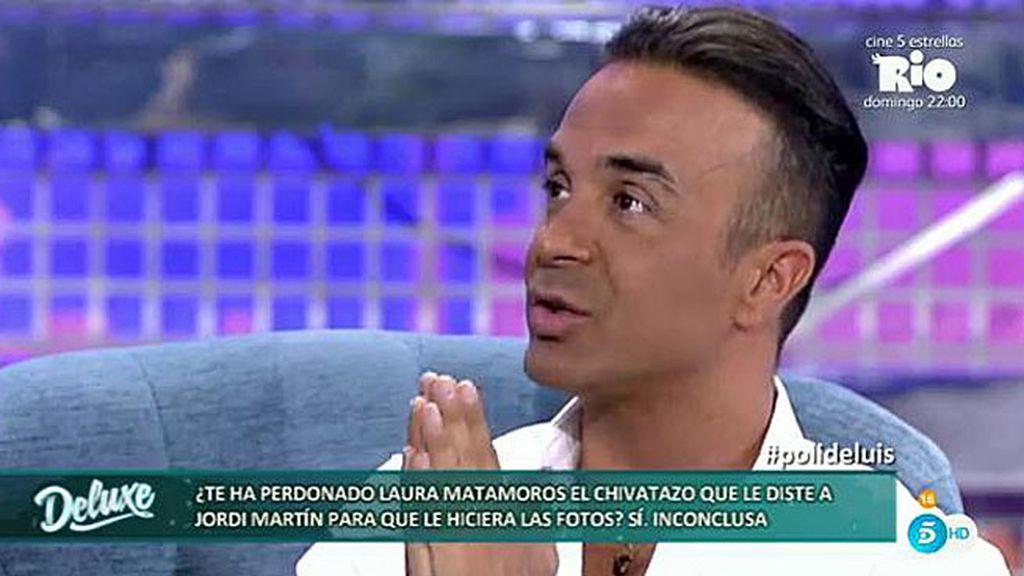 """Luis Rollán se sincera: """"Estoy loco por pedirle perdón a Laura Matamoros"""""""