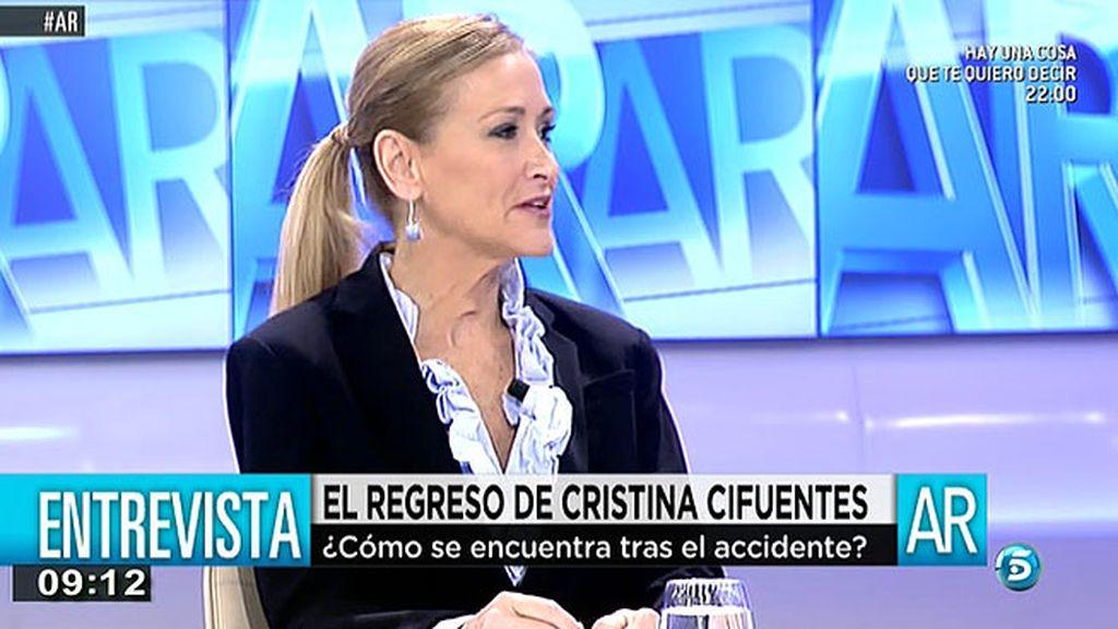 """Cristina Cifuentes: """"Un militante disciplinado no se puede negar a ciertas cosas"""""""