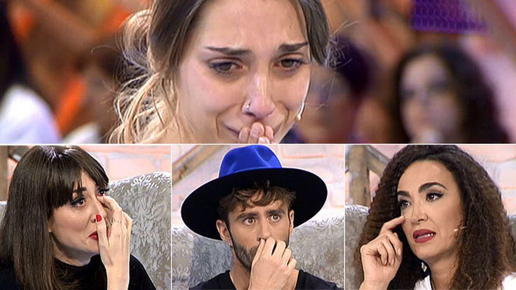 Natalia, Pelayo y Cristina rompen a llorar con la historia de Marisol