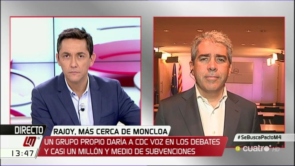 """Homs: """"Nadie en Convergencia votó a favor del PP y de la señora Ana Pastor"""""""