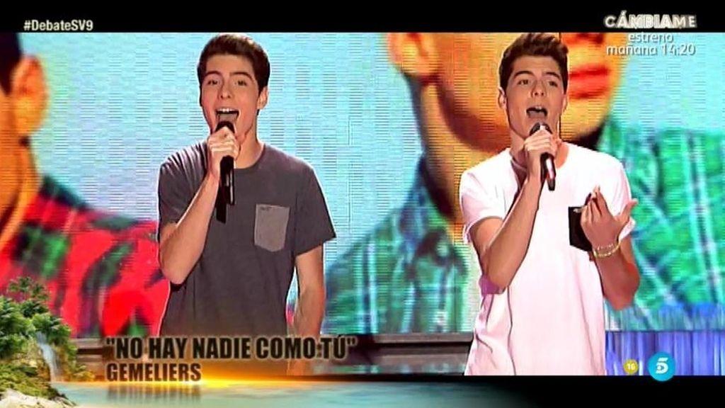 Gemeliers cantan 'Nadie como tú' en 'Supervivientes'