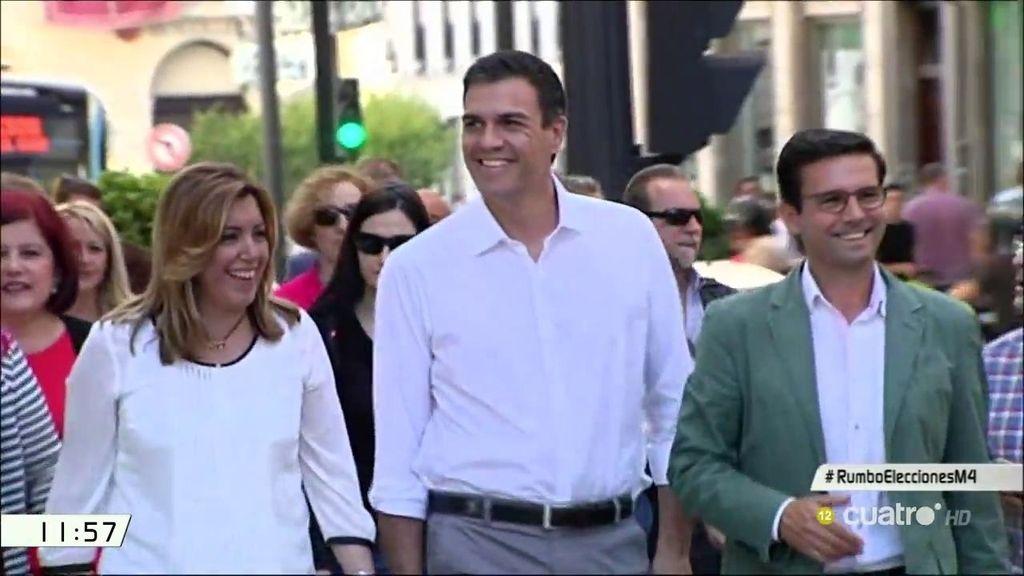 Pedro Sánchez y Susana Díaz muestran unión en Granada