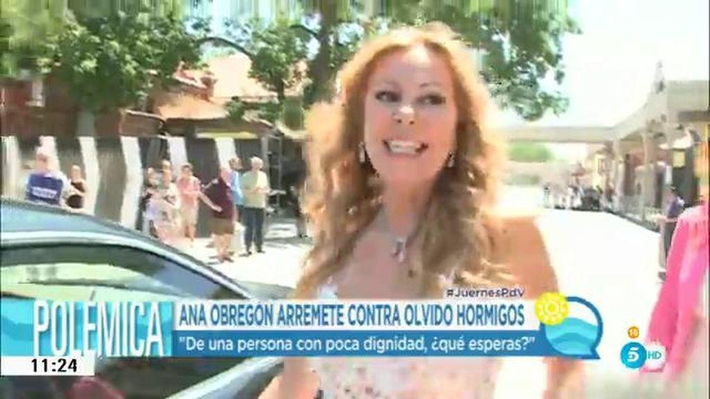 """Ana Obregón, sobre Olvido: """"De una persona con poca dignidad, ¿qué esperas?"""""""