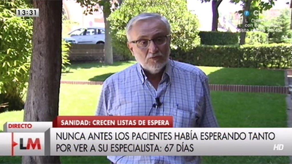 """Sánchez Bayle: """"la capacidad del sistema para atender pacientes ha disminuido"""""""