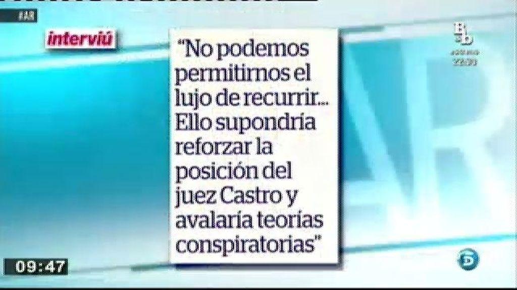 Pedro Horrach diseñó una estrategia para salvar a la Infanta Cristina, según Interviú