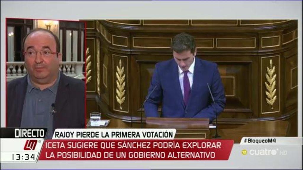 """Iceta: """"Creo que Sánchez explora salidas que no conduzcan a elecciones"""""""