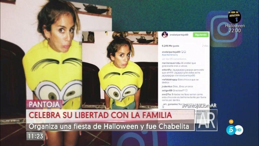 Isabel Pantoja celebra su libertad con una fiesta de Halloween