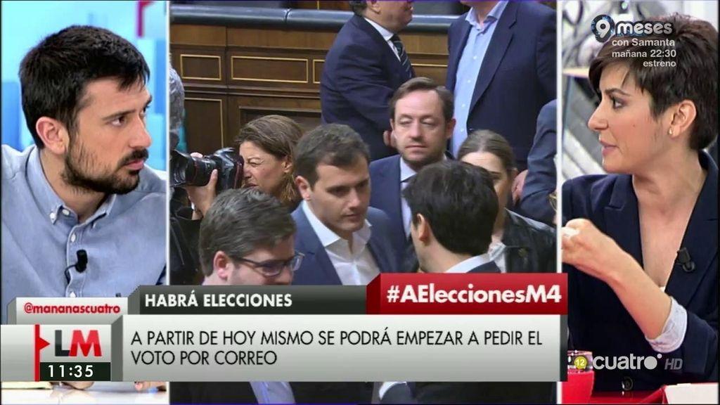 """I. Rodríguez (PSOE): """"Parece que la nueva política para Podemos es ocupar un sillón"""""""