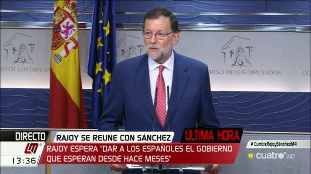 """Rajoy: """"La única alternativa a esta propuesta sería la repetición de elecciones"""""""