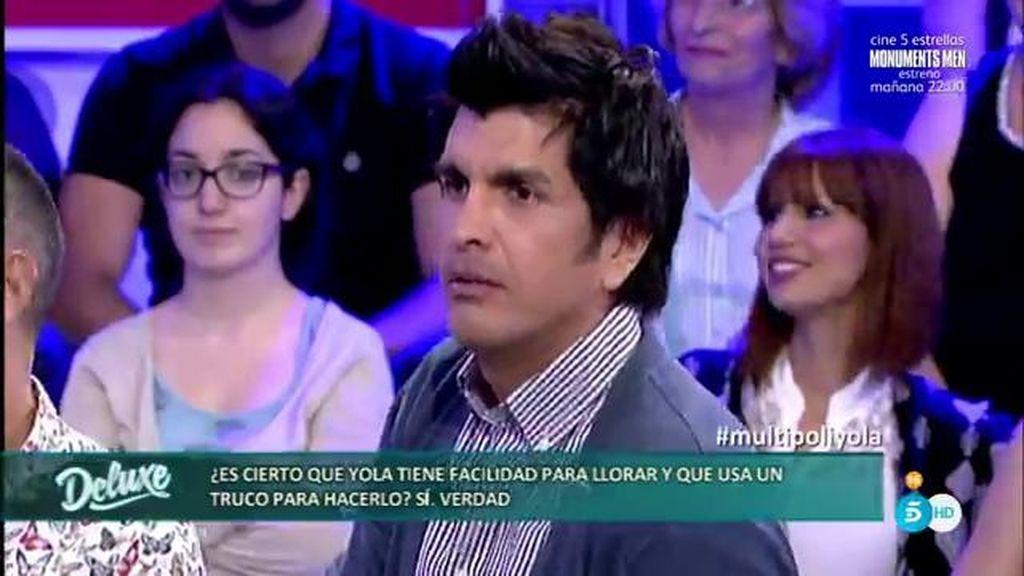 Mario Alberto, ex marido de Yola, revela el truco de la concursante para llorar