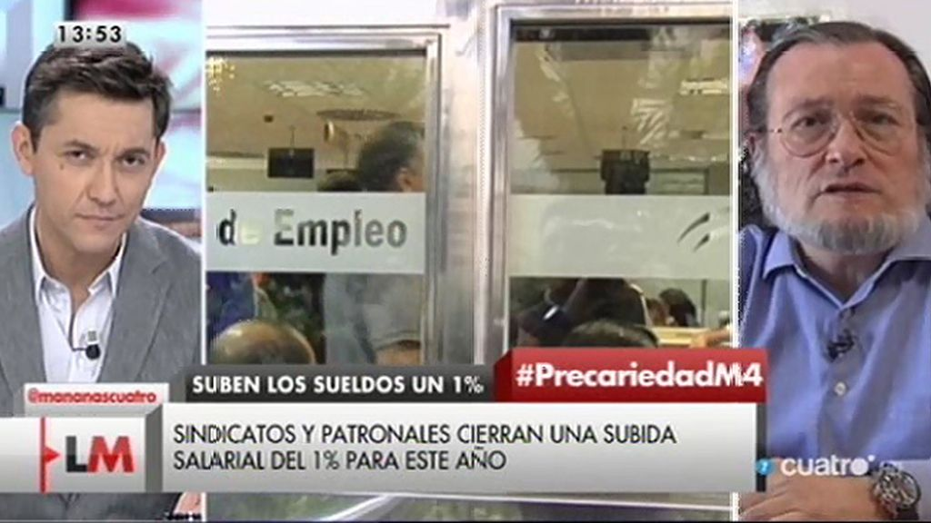 """Santiago Niño Becerra, sobre la subida de los salarios: """"Es una subida testimonial"""""""