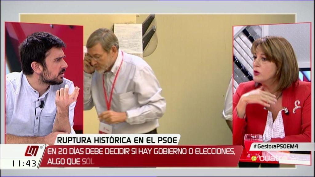 """Soraya Rodríguez: """"En la puerta de Ferraz había representantes de Podemos"""""""