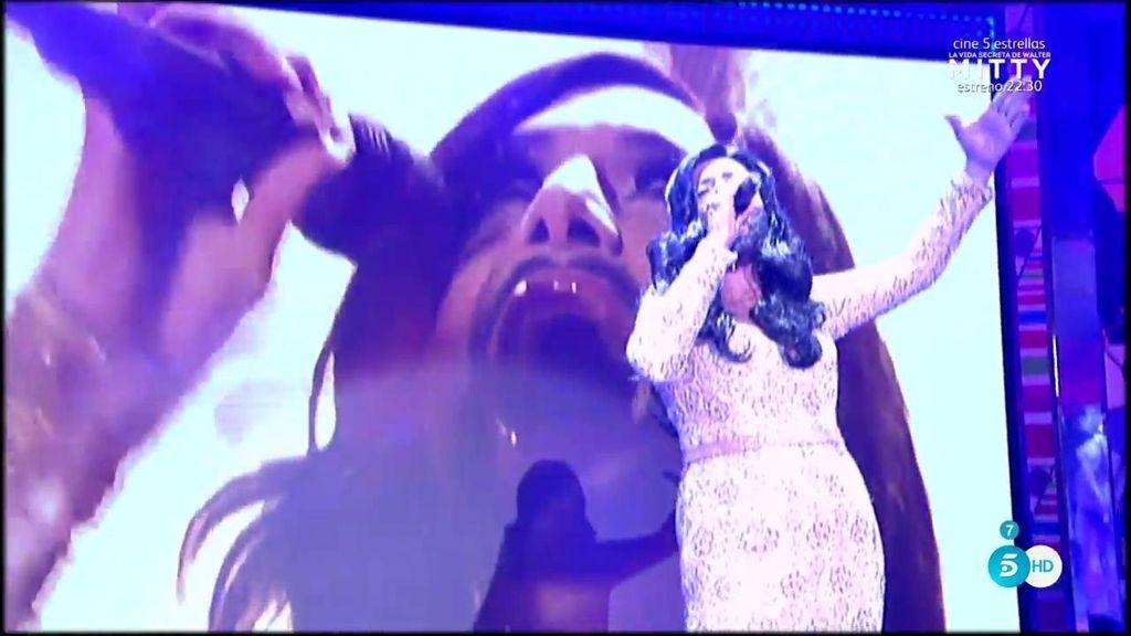 Lydia Wurst deslumbra como la austriaca Conchita en Eurovision