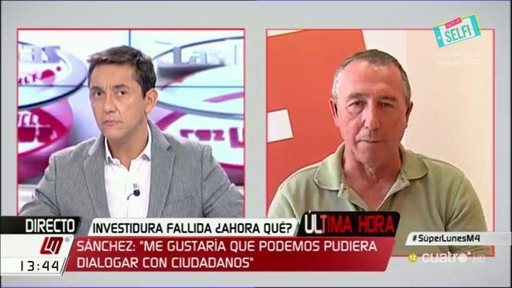 """Joan Baldoví: """"Le pido a Pedro Sánchez que intente formar gobierno"""""""