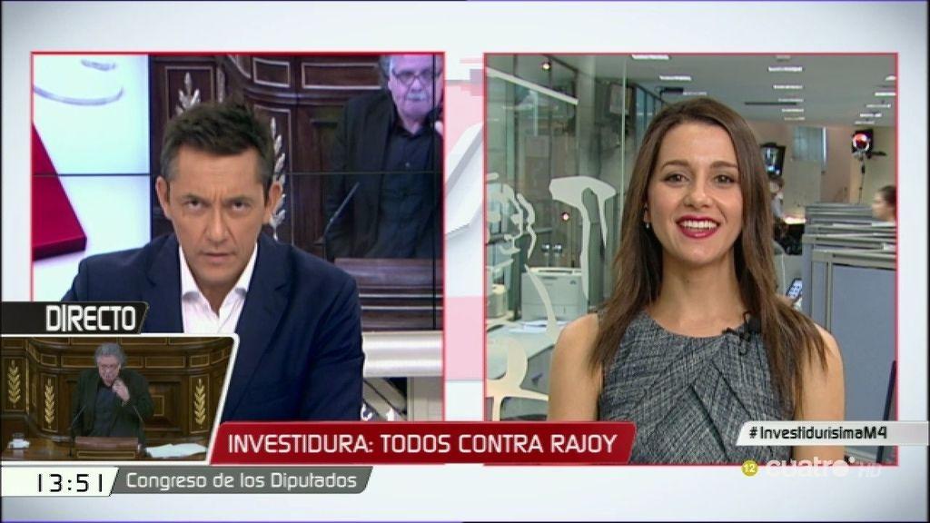 """Inés Arrimadas: """"El debate ha servido para comprobar que el PP y el PSOE siguen anclados en el pasado"""""""