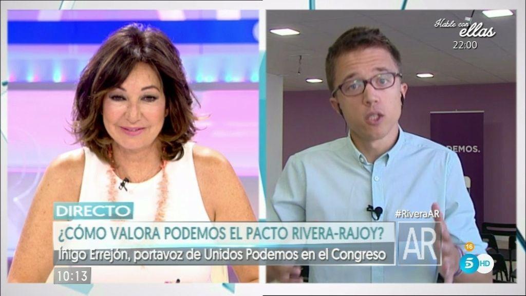 """Íñigo Errejón: """"Si el PSOE se decide a buscar una alternativa estaremos ahí"""""""
