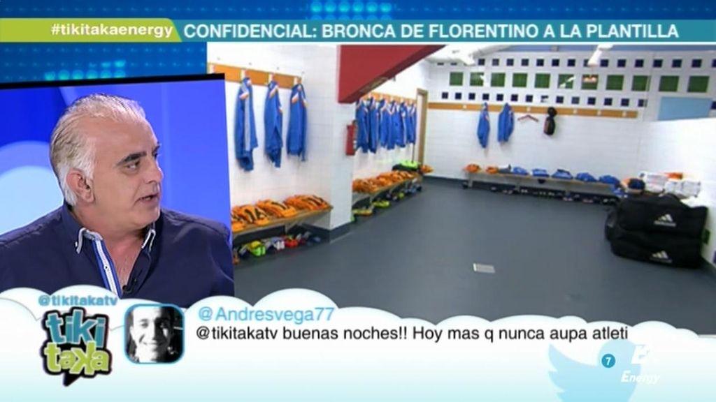 """San Martín: """"Florentino debería mantener la calma y no bajar al vestuario en plan pose"""""""