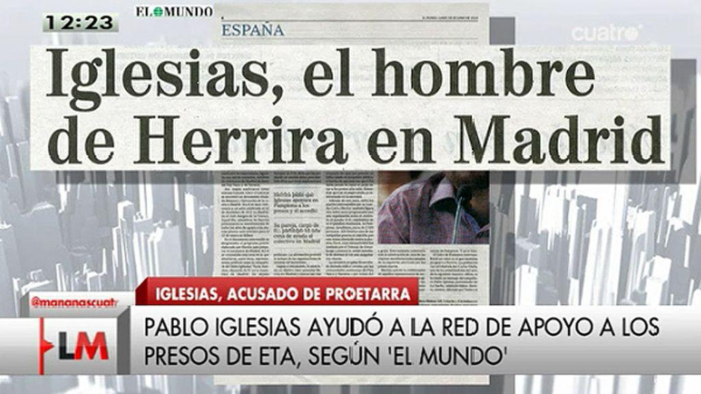 La Guardia Civil destapa numerosas evidencias que vinculan a Iglesias con Herrira, según el diario 'El Mundo'