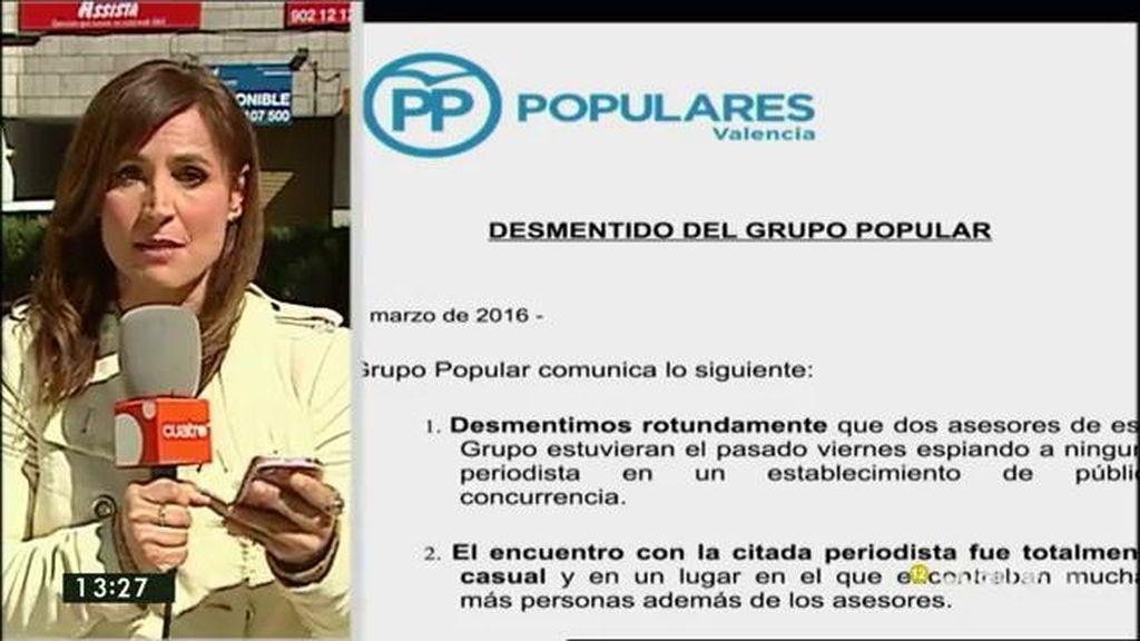 El PP desmiente que dos asesores de su grupo espiaran a Loreto Ochando