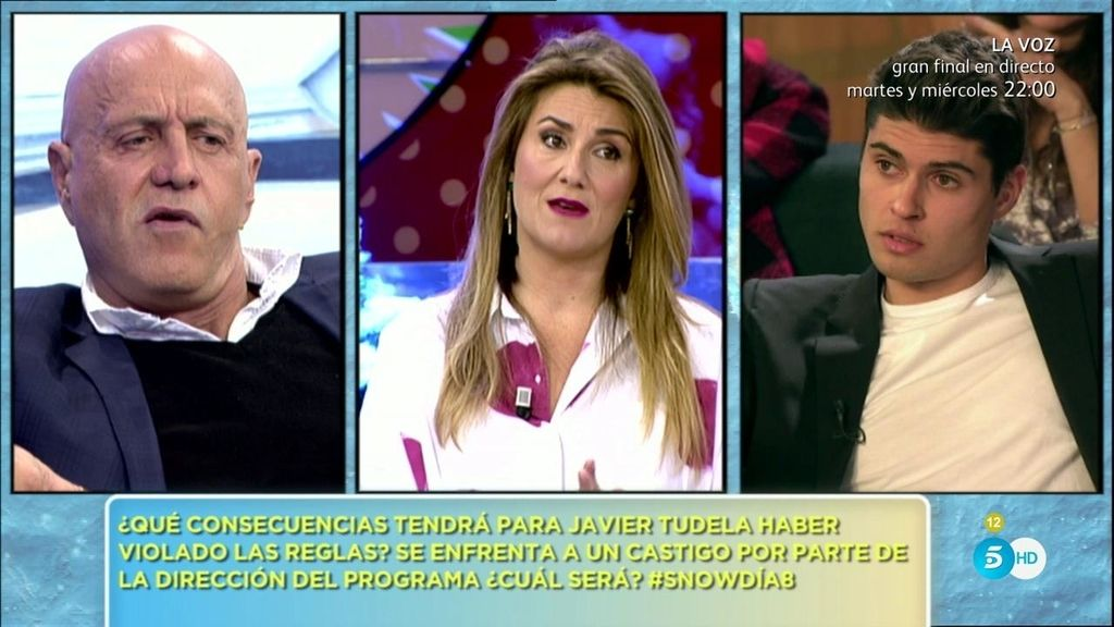 Matamoros intenta convencer a Javier Tudela para que abandone la 'Sálvame Snow Week'