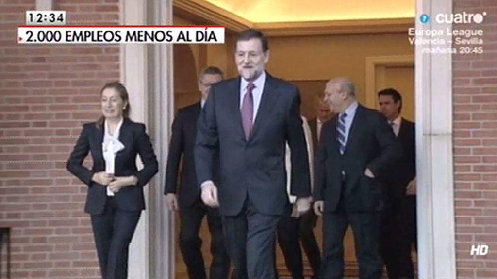 """Mariano Rajoy: """"Estoy muy contento, creo que las cosas van a ir a mejor"""""""