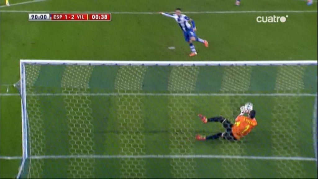 ¡Asenjo para un penalti a Sergio García en el descuento y da la victoria al Villarreal!