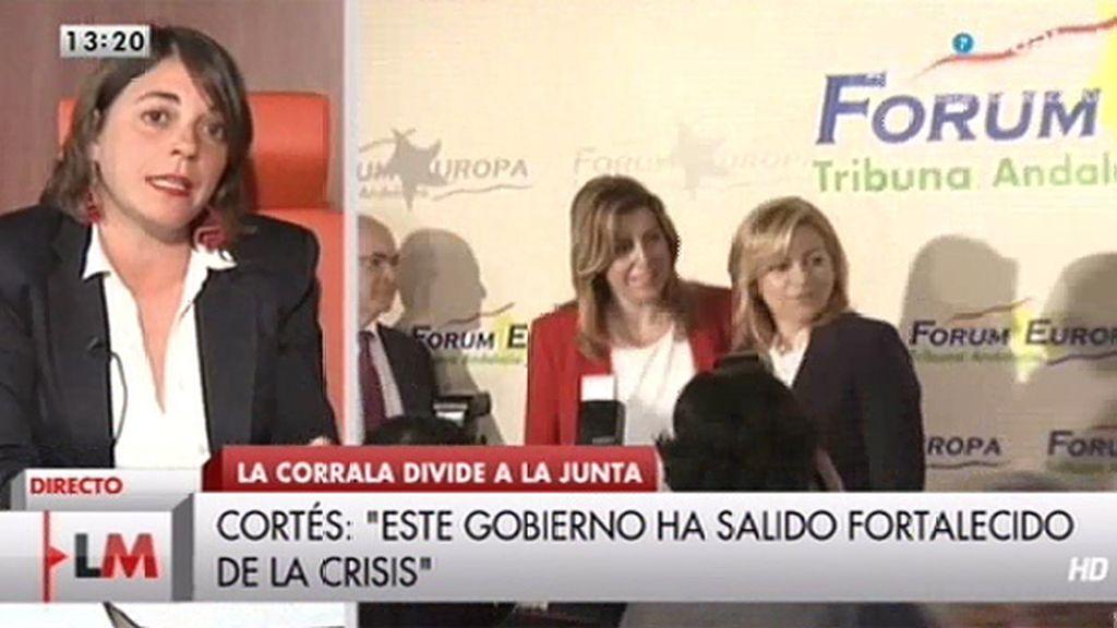 """Elena Cortés: """"Sale fortalecido el Gobierno de Andalucía"""""""