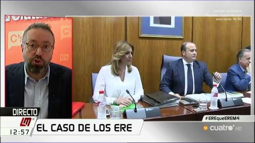 """Girauta, de Chaves y Griñán: """"No nos ha cogido en el bochorno de tenerlos como cargos públicos porque C's pidió su dimisión"""""""