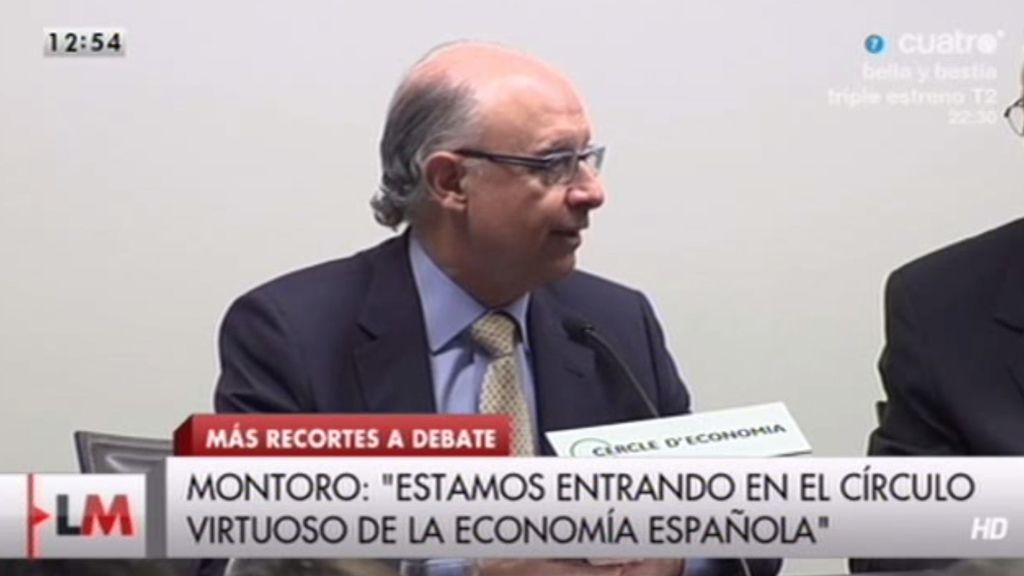 """Cristóbal Montoro: """"Estamos entrando en el círculo virtuoso de la economía"""""""