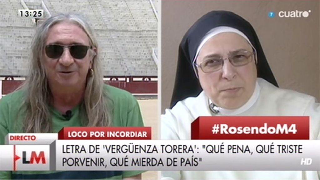 """Sor Lucía Caram, a Rosendo: """"A ver si liamos alguna grande conjuntamente"""""""