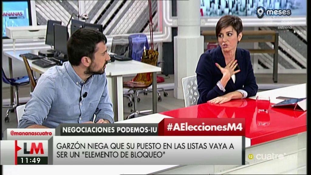 """Ramón Espinar, a Isabel Rodríguez: """"¿La coalición de IU – Podemos os asusta? Una razón más para llevarla adelante"""""""