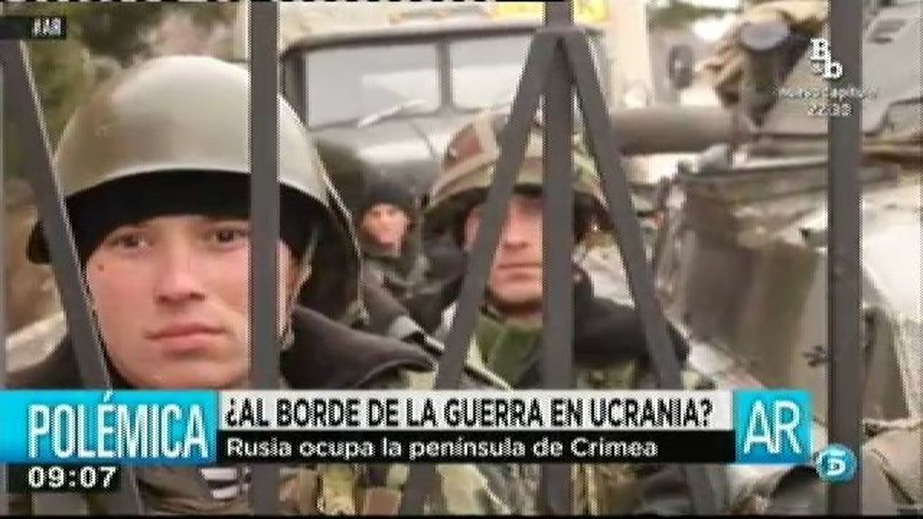 Rusia ocupa la península de Crimea