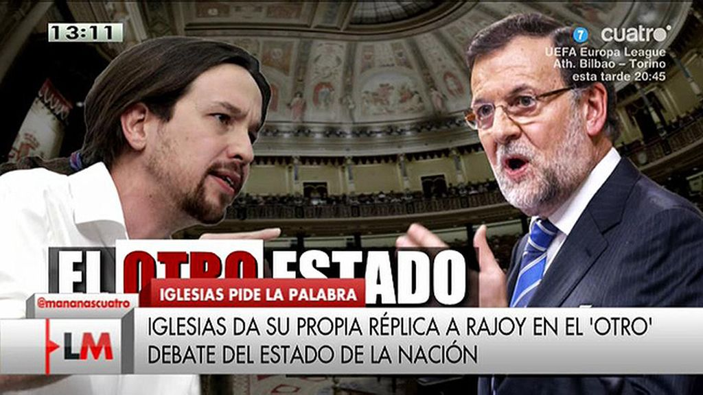 Iglesias da su propia réplica a Rajoy