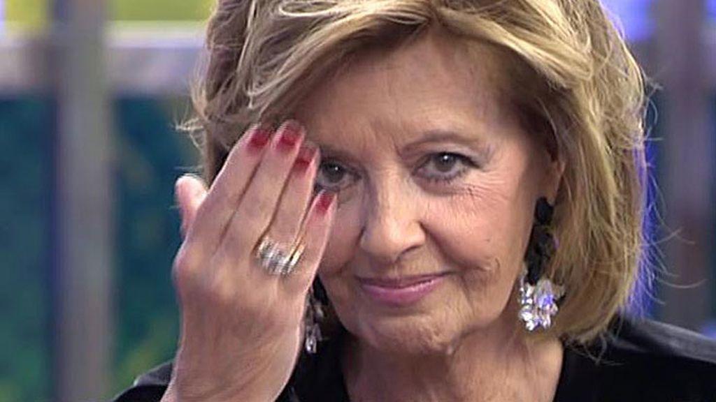 """Mª Teresa Campos, a Edmundo: """"Nadie ha sido tan cariñoso como eres tú conmigo"""""""