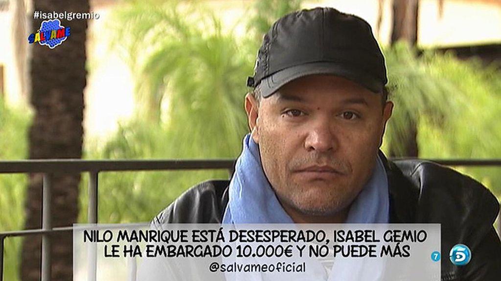 """Nilo Manrique, sobre Gemio: """"Esta señora me ha embargado la nómina, 10.000€"""""""