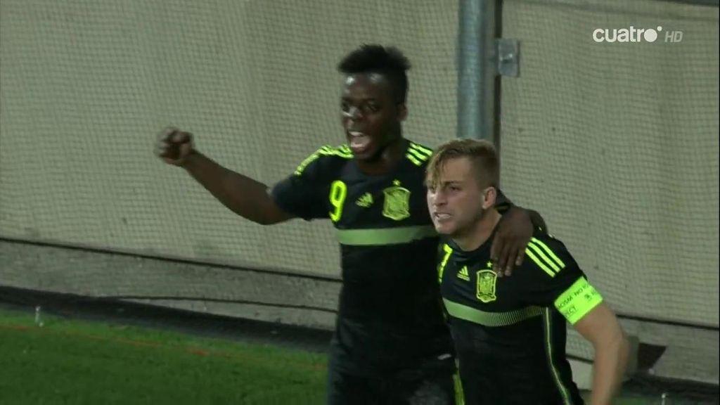 ¡Deulofeu no falla desde el punto de penalti y marca el primer gol de España!