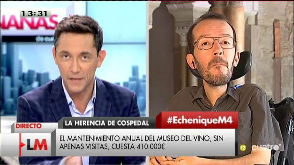 """Echenique: """"La torre de Socuéllamos ha sido rentable para los amigos de Cospedal"""""""