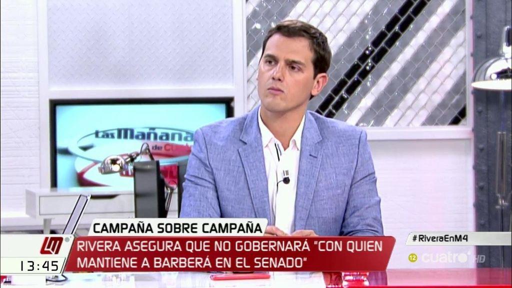 """Rivera, sobre apoyar al PP sin Rajoy: """"No es suficiente con cambiar de apellido"""""""