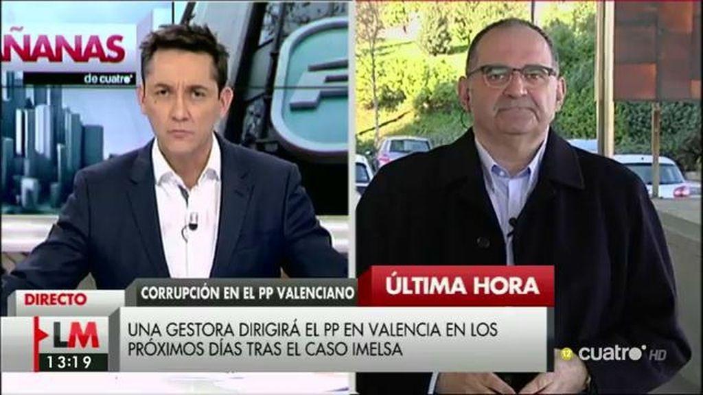 """Antón Losada: """"El PP valenciano no necesita a una gestora, necesita a 'Los vengadores' y a 'Los cuatro fantásticos'"""