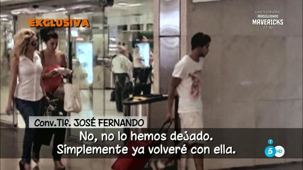 """EN EXCLUSIVA, Jose Fernando habla con 'Sálvame': """"Yo he estado con ella por amor"""""""