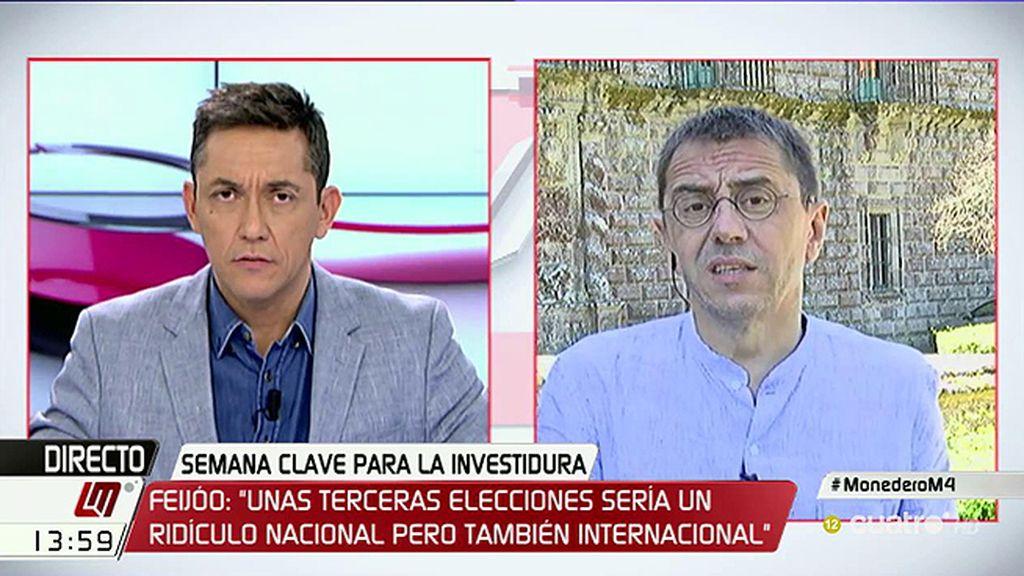 """Monedero: """"Rajoy y Sánchez son dos difuntos vivos que deben dimitir por España"""""""