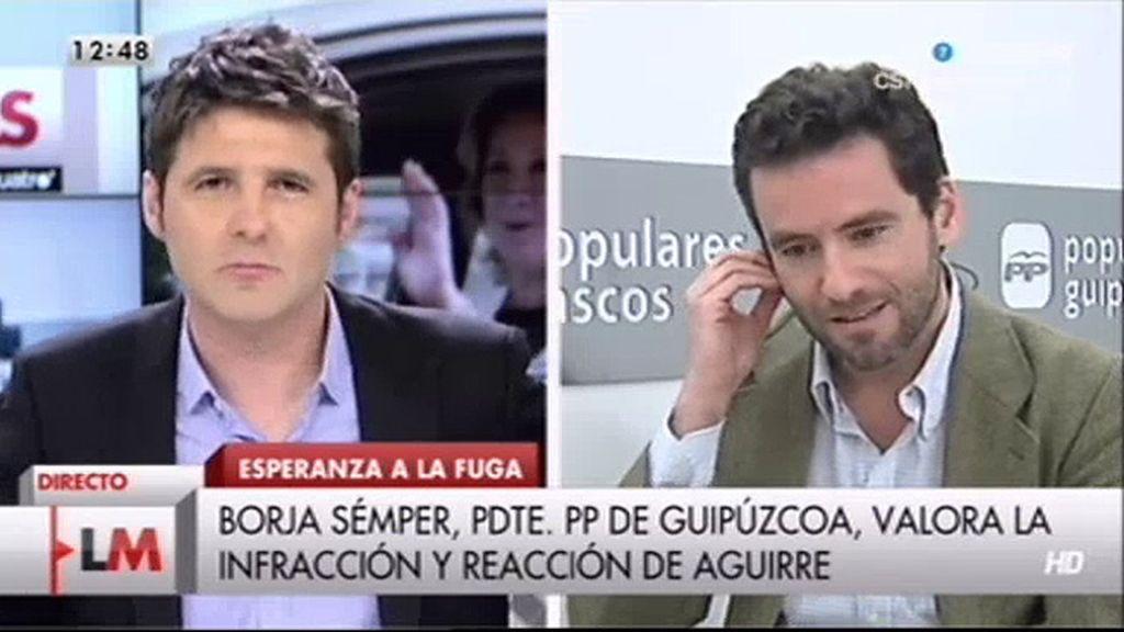 """Borja Sémper: """"A mí me produce tristeza todo lo que está sucediendo"""""""
