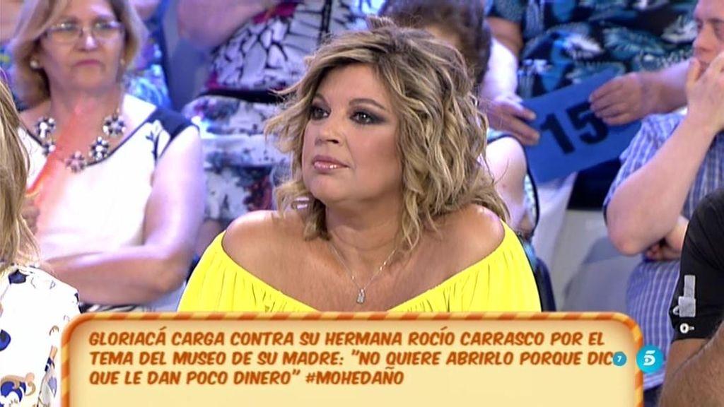 """Terelu: """"Rocío Carrasco no quiere tener nada que ver con la gestión del museo"""""""