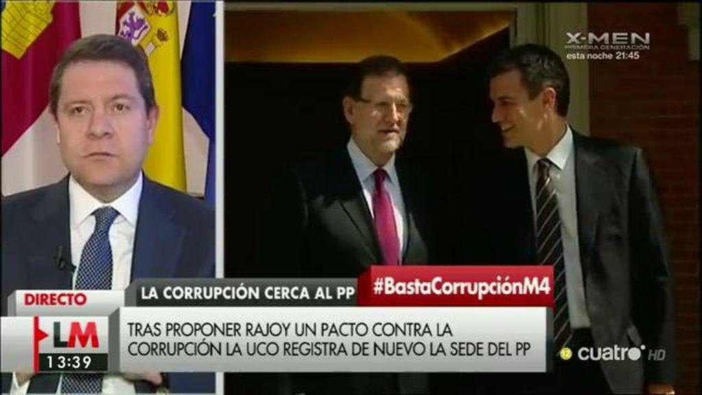"""García - Page: """"Si el PP cree que no merece la pena la reunión, que no vayan"""""""